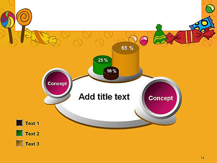 Candy Frame PowerPoint Template Slide 16