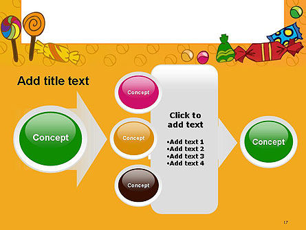 Candy Frame PowerPoint Template Slide 17