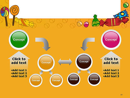 Candy Frame PowerPoint Template Slide 19