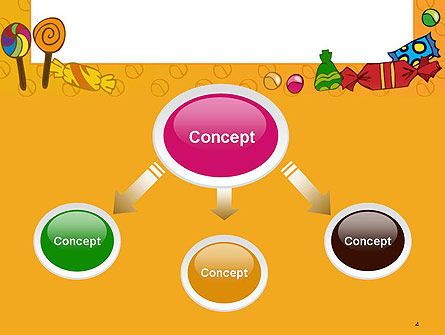 Candy Frame PowerPoint Template, Slide 4, 14511, Food & Beverage — PoweredTemplate.com
