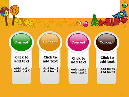 Candy Frame PowerPoint Template Slide 5