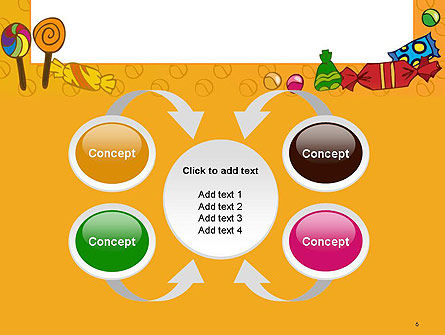 Candy Frame PowerPoint Template Slide 6