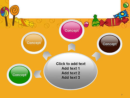 Candy Frame PowerPoint Template Slide 7