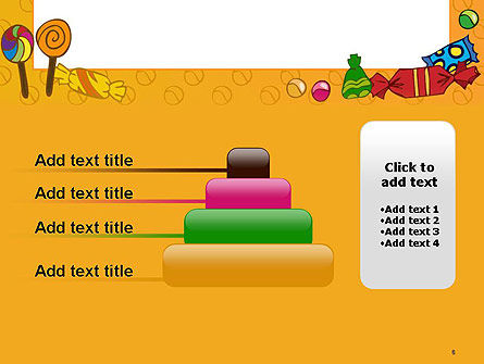 Candy Frame PowerPoint Template Slide 8