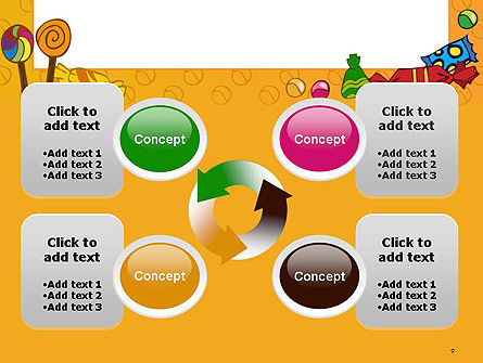 Candy Frame PowerPoint Template Slide 9