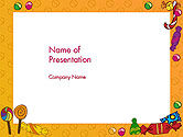 Food & Beverage: Candy Frame PowerPoint Template #14511