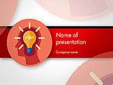 Business Concepts: Modèle PowerPoint de ampoule avec silhouette tête humaine #14512