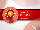 Business Concepts: Modello PowerPoint - Lampadina con silhouette testa umana #14512