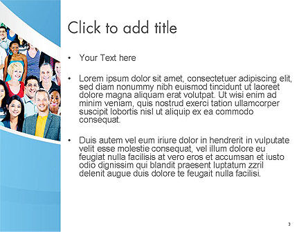 Group of Diverse Multiethnic Cheerful People PowerPoint Template, Slide 3, 14513, People — PoweredTemplate.com