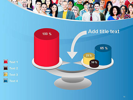 Group of Diverse Multiethnic Cheerful People PowerPoint Template Slide 10