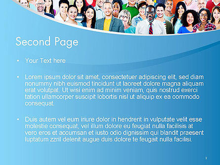 Group of Diverse Multiethnic Cheerful People PowerPoint Template Slide 2
