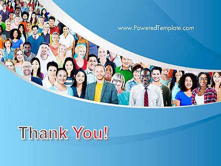 Group of Diverse Multiethnic Cheerful People PowerPoint Template Slide 20