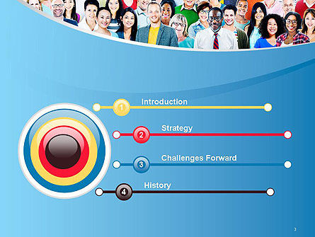Group of Diverse Multiethnic Cheerful People PowerPoint Template Slide 3