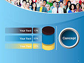 Group of Diverse Multiethnic Cheerful People PowerPoint Template#11
