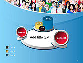 Group of Diverse Multiethnic Cheerful People PowerPoint Template#16