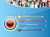 Group of Diverse Multiethnic Cheerful People PowerPoint Template#3