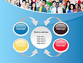 Group of Diverse Multiethnic Cheerful People PowerPoint Template#6