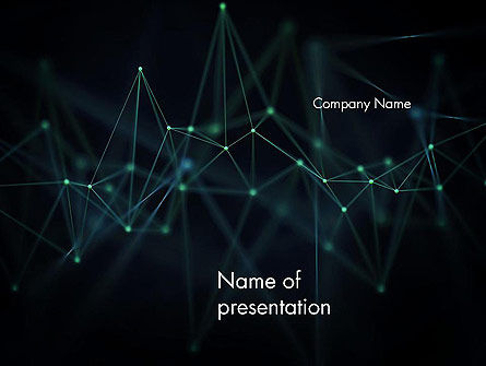 Abstract Connected Dots PowerPoint Template, 14514, 3D — PoweredTemplate.com