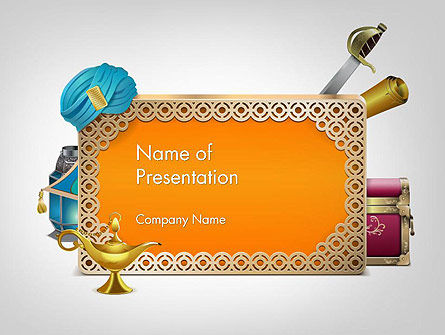Arabic Frame PowerPoint Template