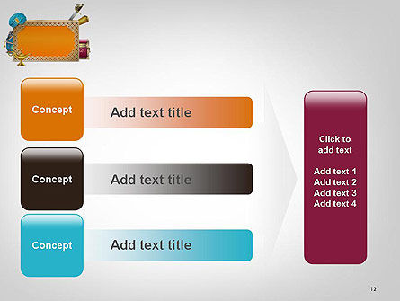 Arabic Frame PowerPoint Template Slide 12