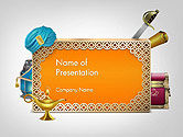 Flags/International: Arabic Frame PowerPoint Template #14515