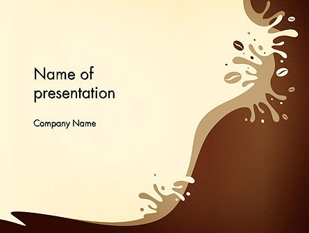 Food & Beverage: Coffee Splash and Beans PowerPoint Template #14516