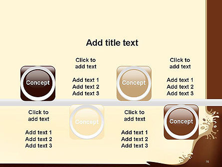 Coffee Splash and Beans PowerPoint Template Slide 18