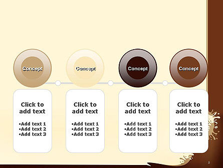 Coffee Splash and Beans PowerPoint Template Slide 5