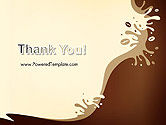 Coffee Splash and Beans PowerPoint Template#20