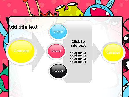 Pink Monster Frame PowerPoint Template Slide 17