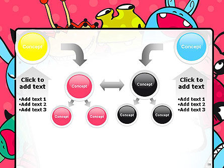 Pink Monster Frame PowerPoint Template Slide 19