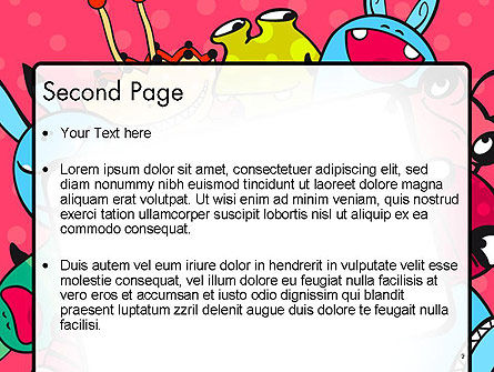 Pink Monster Frame PowerPoint Template Slide 2