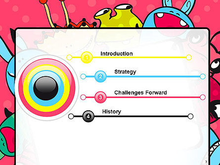 Pink Monster Frame PowerPoint Template Slide 3