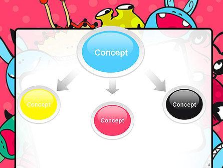 Pink Monster Frame PowerPoint Template, Slide 4, 14520, Art & Entertainment — PoweredTemplate.com