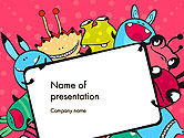 Art & Entertainment: Pink Monster Frame PowerPoint Template #14520