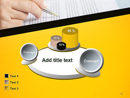 Woman Working with Text PowerPoint Template Slide 13