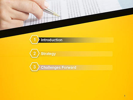Woman Working with Text PowerPoint Template Slide 3