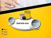 Woman Working with Text PowerPoint Template#13
