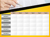 Woman Working with Text PowerPoint Template#15