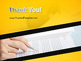 Woman Working with Text PowerPoint Template#20