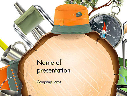 Camping Theme PowerPoint Template, 14525, Art & Entertainment — PoweredTemplate.com