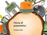 Art & Entertainment: Camping Thema PowerPoint Template #14525