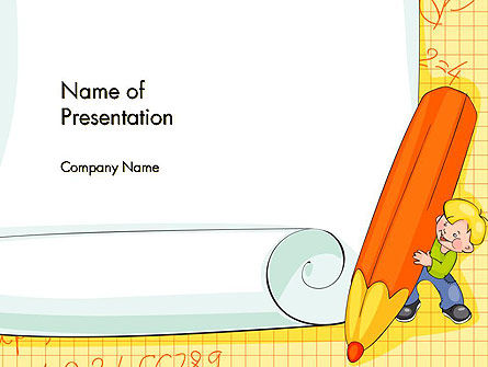 School Kids Frame PowerPoint Template, 14527, Education & Training — PoweredTemplate.com
