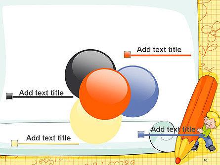 School Kids Frame PowerPoint Template Slide 10