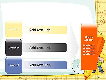 School Kids Frame PowerPoint Template Slide 12