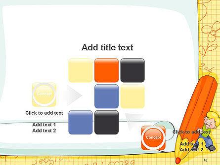 School Kids Frame PowerPoint Template Slide 16