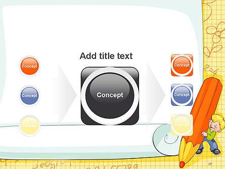 School Kids Frame PowerPoint Template Slide 17