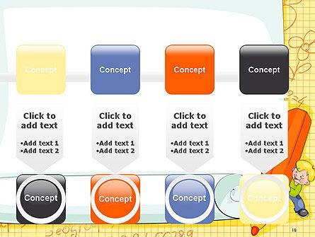 School Kids Frame PowerPoint Template Slide 18