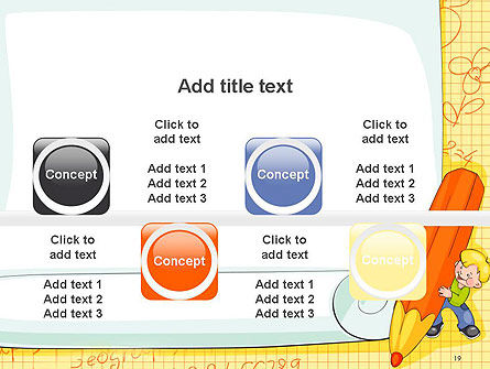 School Kids Frame PowerPoint Template Slide 19