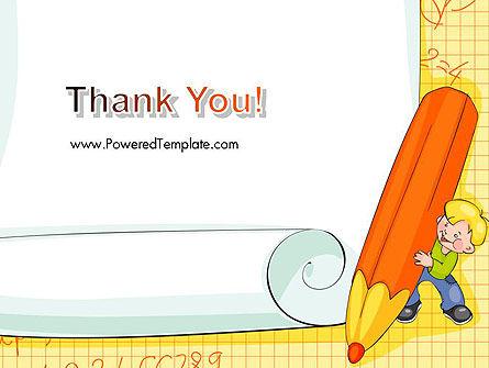School Kids Frame PowerPoint Template Slide 20